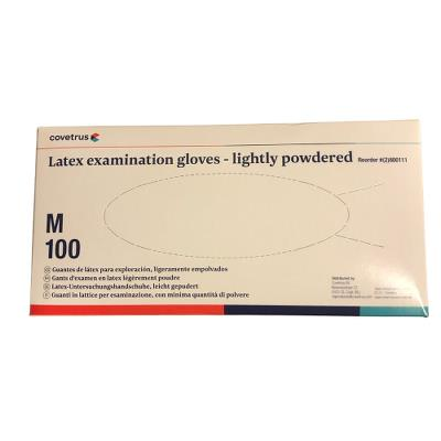 Henry Schein Latex examination gloves, Powdered, Ambulex, M