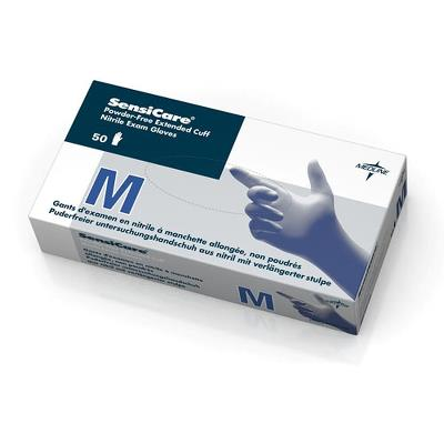 "Nitril examination gloves, Non-powdered, Sensicare 12"", L"