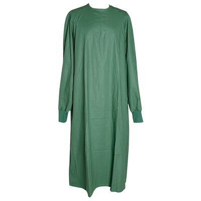 Surgical gown, green, cotton, medium