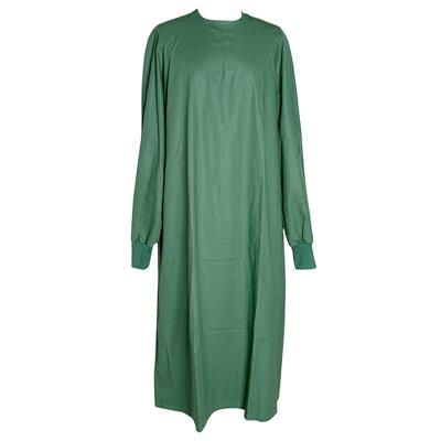 Surgical gown, green, cotton, Large
