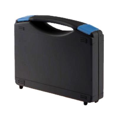 Tekno case, black plastic, 235 x 185 x 48 mm, Foam inside.