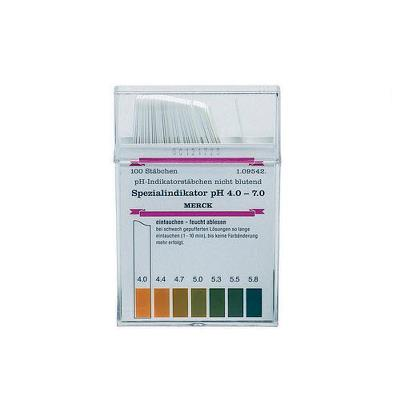 pH test strips, pH 4-7