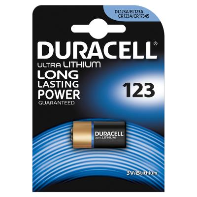 Duracell Battery Butten Cell CR123A 3V