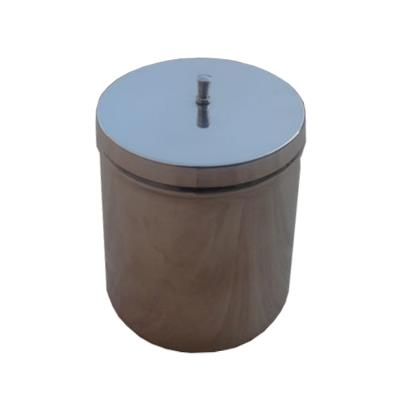 Dressing jar with knob, Stainless steel, 120x120mm