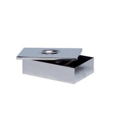 Stainless steel sterilization box with lid, 22x10x5cm
