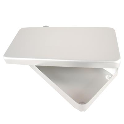 Sterilization box with lid, aluminium, 21x10x3cm