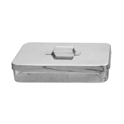 Stainless steel sterilization box with lid, 40x20x9cm