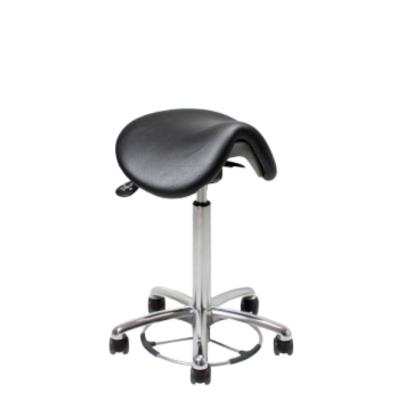 Vela Samba 400 stool, Black, 55-81cm, foot operated