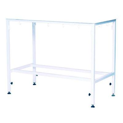 Table frame, white, Adjustable feet