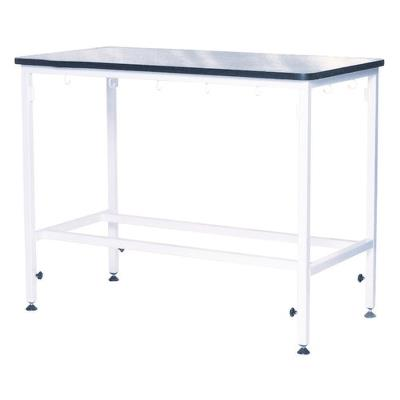 Examination table, adjustable, rubber sheet