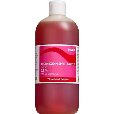 Chlorhexidine alcohol 0.5% with color 500ml