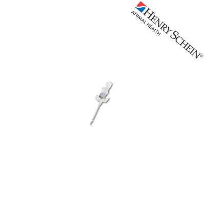 Henry Schein I.V. catheter with port and wings - G16 - gray