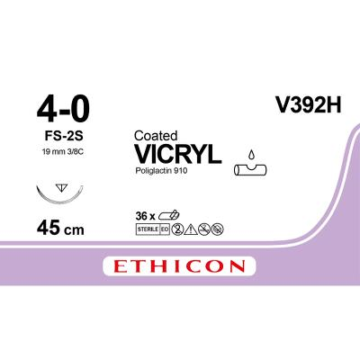 Suture, Vicryl 4-0, FS-2S, Slimmed, 45cm, Ethicon
