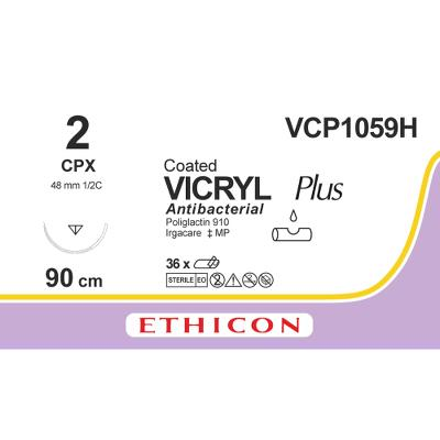 Suture, Vicryl Plus 2, CPX, 90cm, Ethicon