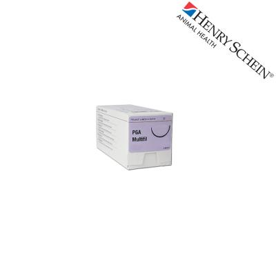 Henry Schein Maxima suture PGA violet 1/2RC40 Metric 4 USP 1