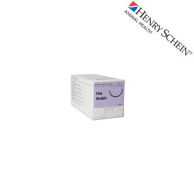 Henry Schein Maxima suture PGA violet 3/8TP24 Metric 2 USP 3