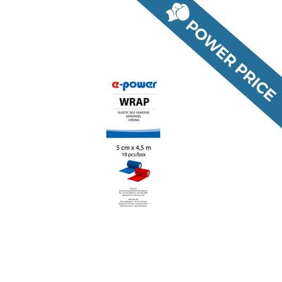 Badaging Tape, Wrap e-power, red, 5cm, E-Vet