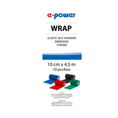 Badaging Tape, Wrap e-power, black, 10cm, E-Vet