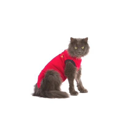 Body-Stocking, Medical Pet Shirt®,XX-Small, Cat, Red, MPS®