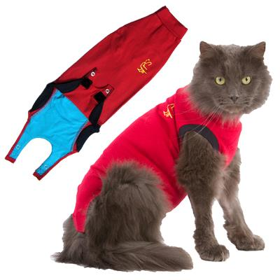 Body-Stocking, Medical Pet Shirt®, X-Small, Cat, Red, MPS®