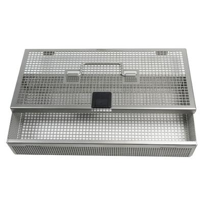 Mini-size container basket with lid, 26,7x12,7x5cm, Aesculap